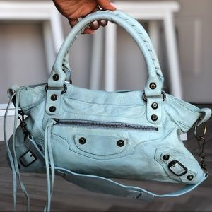 *RARE* 05 Ice Blue BALENCIAGA First Bag Excellent